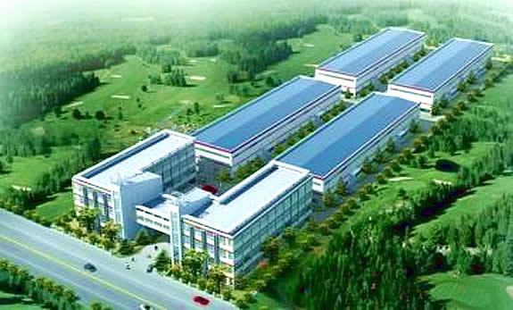 欣赏一组高清版的钢结构厂房效果图
